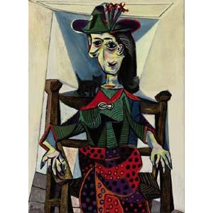 Пабло Пикассо «Дора Маар с кошкой»