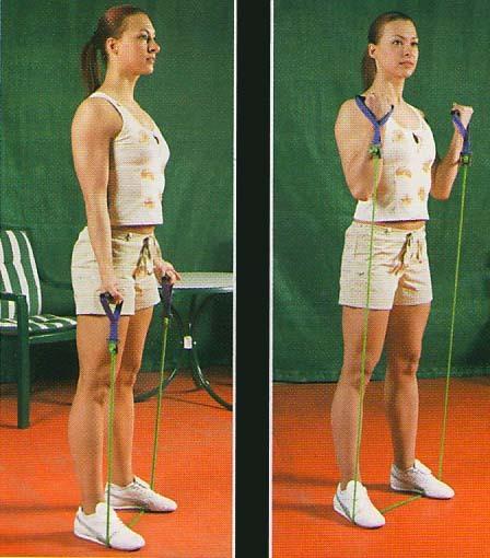 упражнения от эспандером