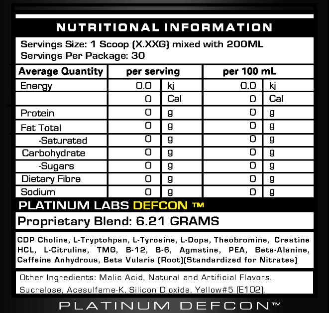 Platinum Labs DEFCON 1 состав