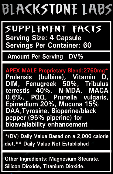 Apex Male Supplement Facts