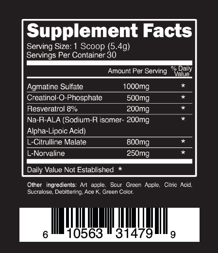Chaos and Pain Cannibal Swole supplement facts