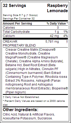 Top Secret Nutrition Creavar Creatine Plus Jar - состав