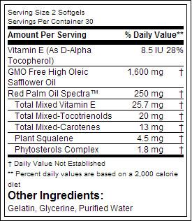 Top Secret Nutrition Red Palm Oil Plus Safflower Oil - состав
