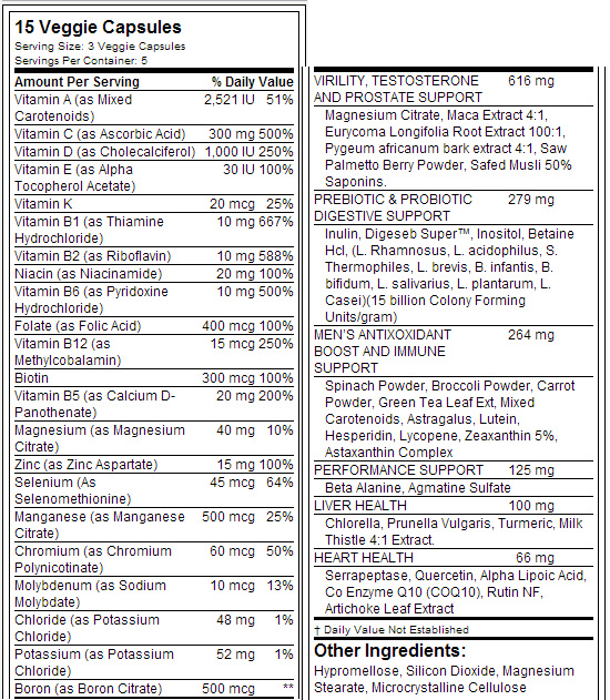 Top Secret Nutrition Vita-T Mens Multi Vitamin - состав