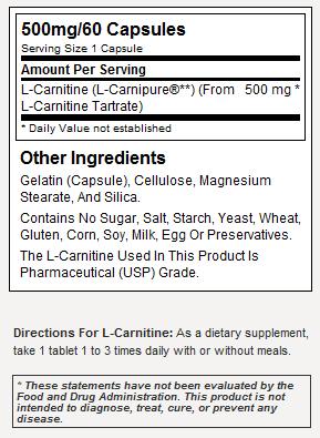 NOW Sport Nutrition L-Carnitine - состав