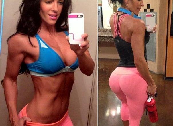 спортзал результаты до и после девушки