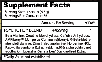 Insane Labs Budle Pack - Supplement Facts - 02