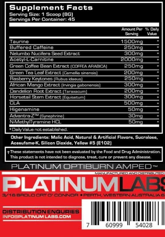 Optiburn - Supplement Facts