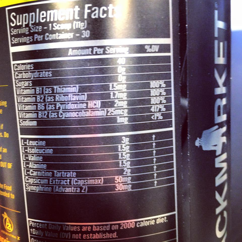 BlackMarket Labs - Amino Cuts - Supplement Facts